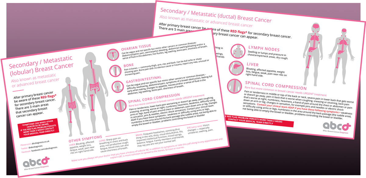 Secondary Breast Cancer Infographics