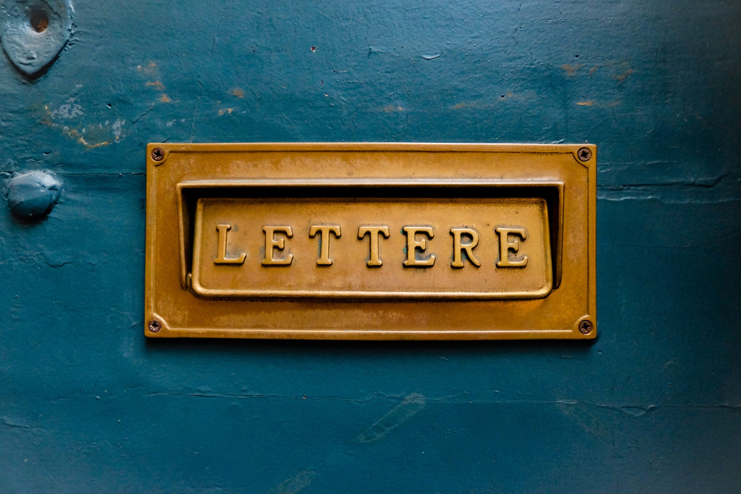 Photo of French letter box