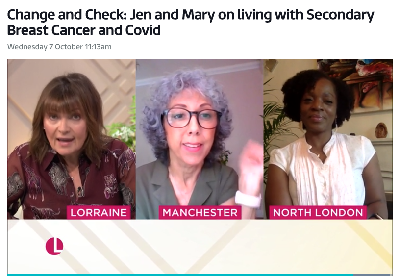 Mary Huckle and Jen Cronje on ITV Lorraine