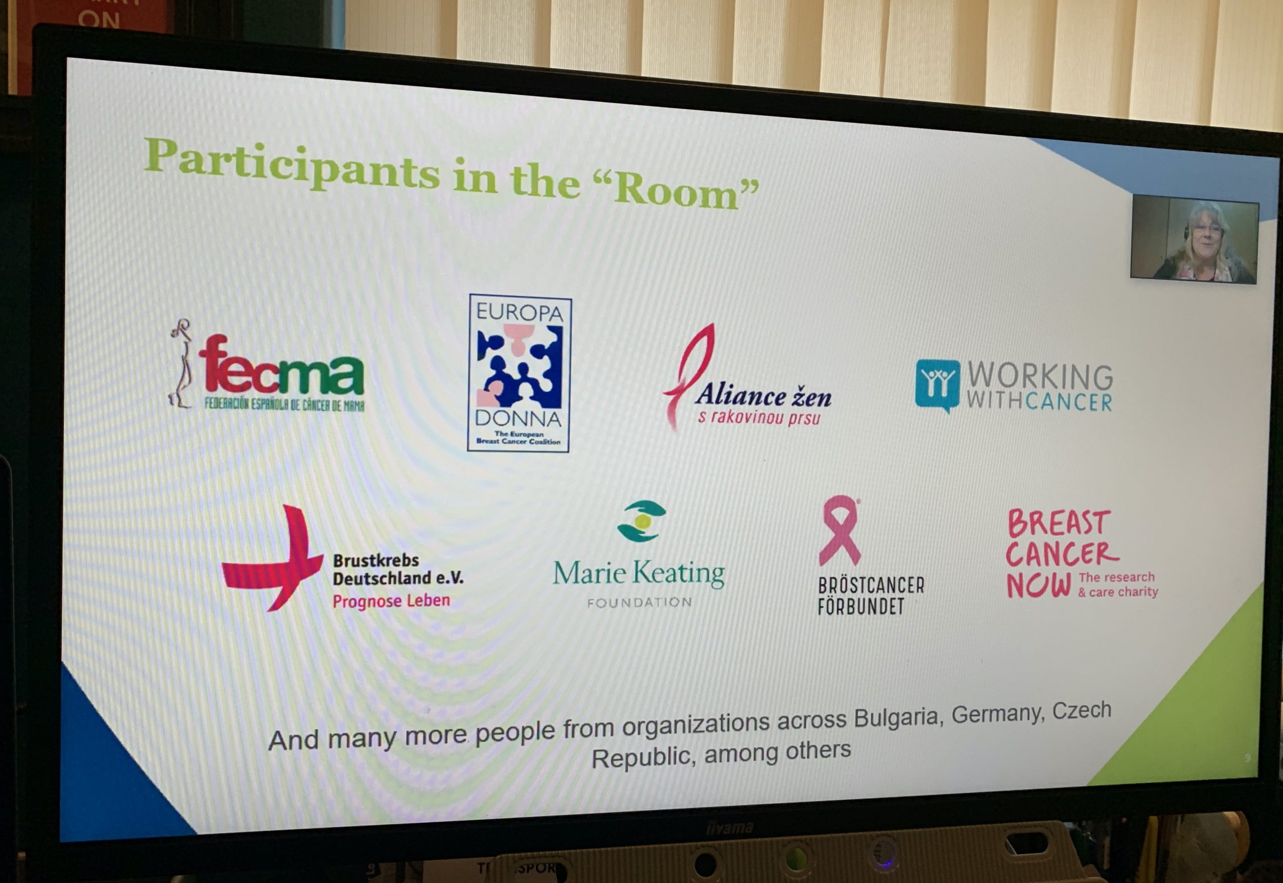 Screenshot of organisations involved in ECPC Roundtable