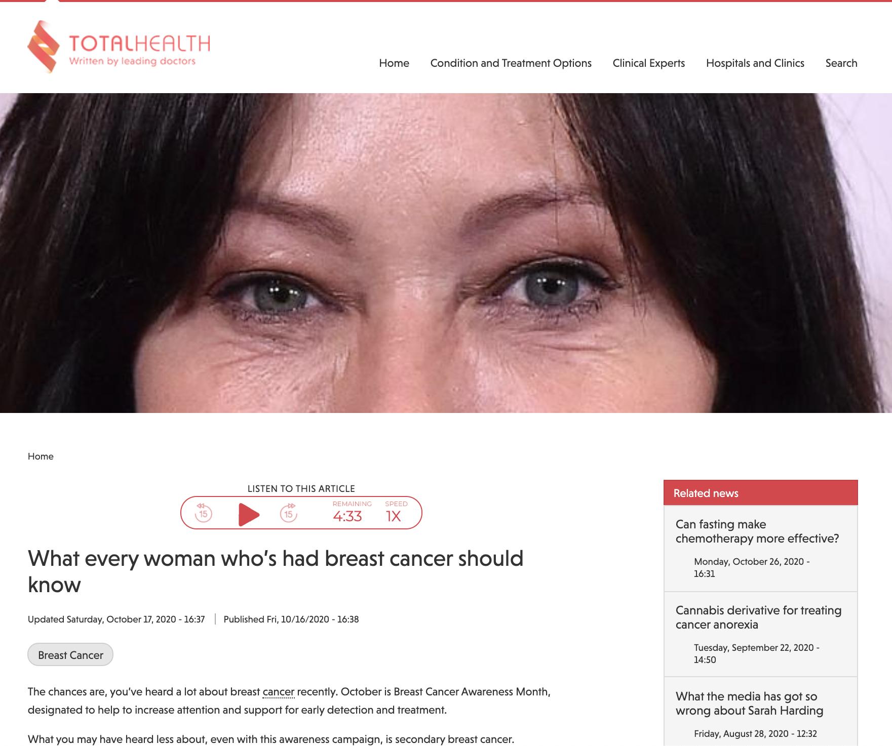 Woman's Eyes in Screenshot in Total Health